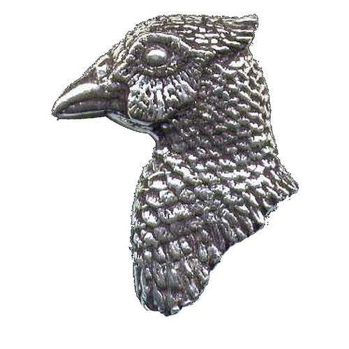 Pheasant's Head Pewter Pin