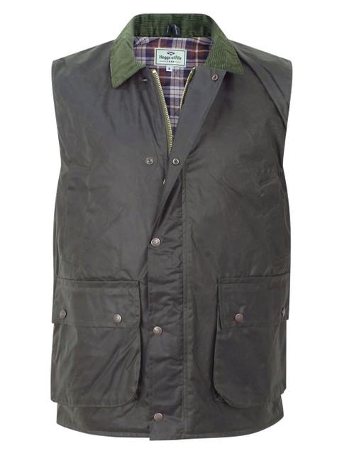 Hoggs of Fife Waxed Padded Waistcoat