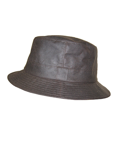 Hoggs of Fife Wax Bush Hat - Brown