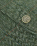 Green Herringbone Tweed Fabric