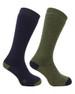 Hoggs of Fife Country Long Socks Dark Green/Dark Navy
