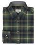 Scooped collar, smart, men's checked shirt