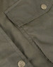 Lady's Wax Jacket brass effect button detailing