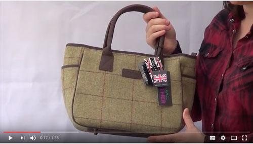 Allegra Tweed Tote Bag Video