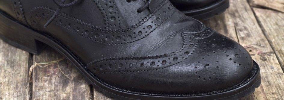 Details about  /Mens Designer Leather Black Brogues Shoes Vintage Look wingtip