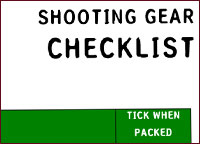 Shooting gear checklist