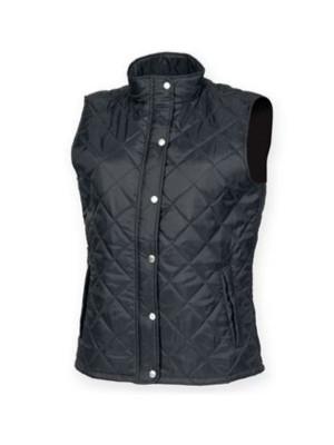 SIZE XXL BNWT Ladies Womens Diamond Quilted 100/% Leather Gilet Black