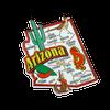 Arizona Jumbo Map Magnet