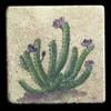 """Rustic Cactus #1 4""""x4"""" Deco Tile"""