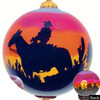"Arizona Sunset Cowboy - 3"" Ornament Set of 2"