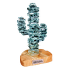 """Stacked Glass Cactus 7"""" w/Sandstone"""