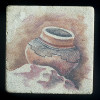 "Ancient Pottery #1 4""x4"" Deco Tile"