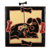 Dog with Bones Dark Desk Clock