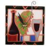 Wine and Grapes Desk Clock