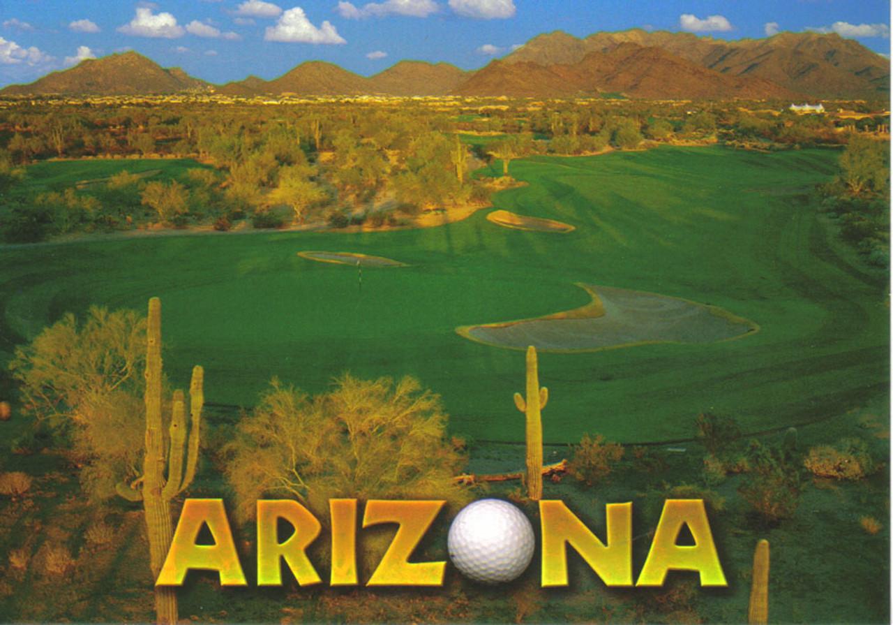 Golf Arizona Postcard - Pack of 100