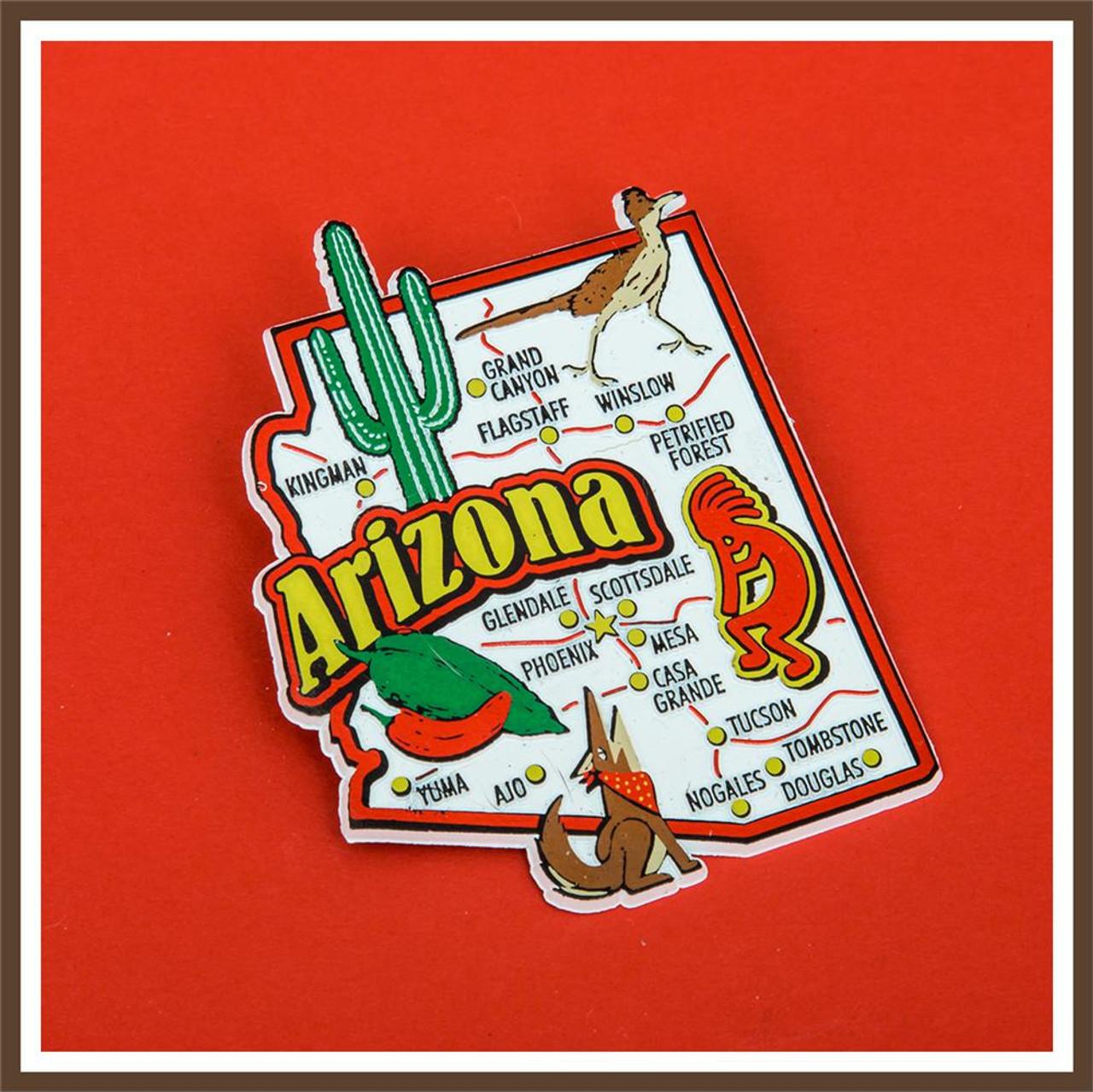 Map Of Arizona 1858.Arizona Jumbo Map Magnet