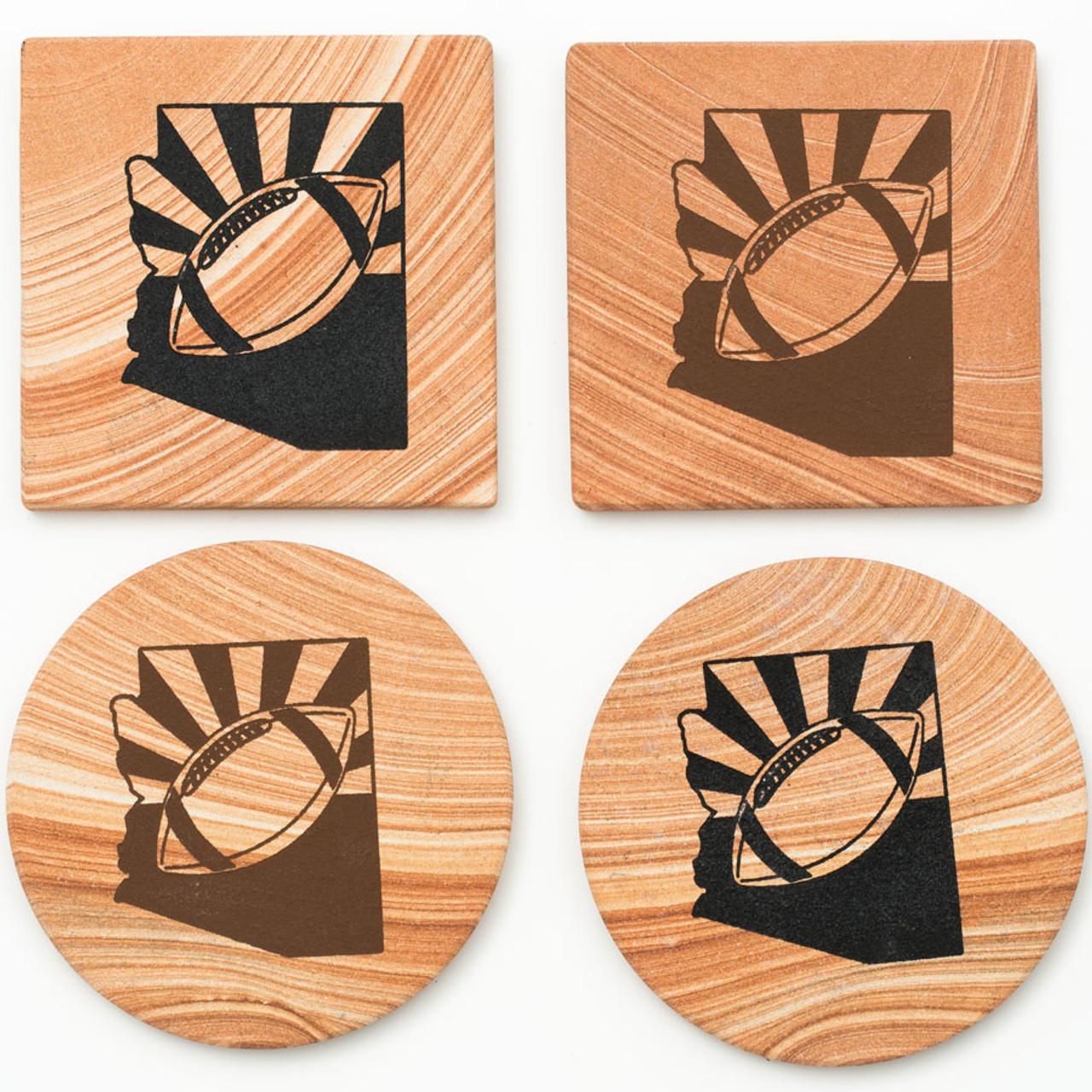 Arizona Football Coasters - Set of 4