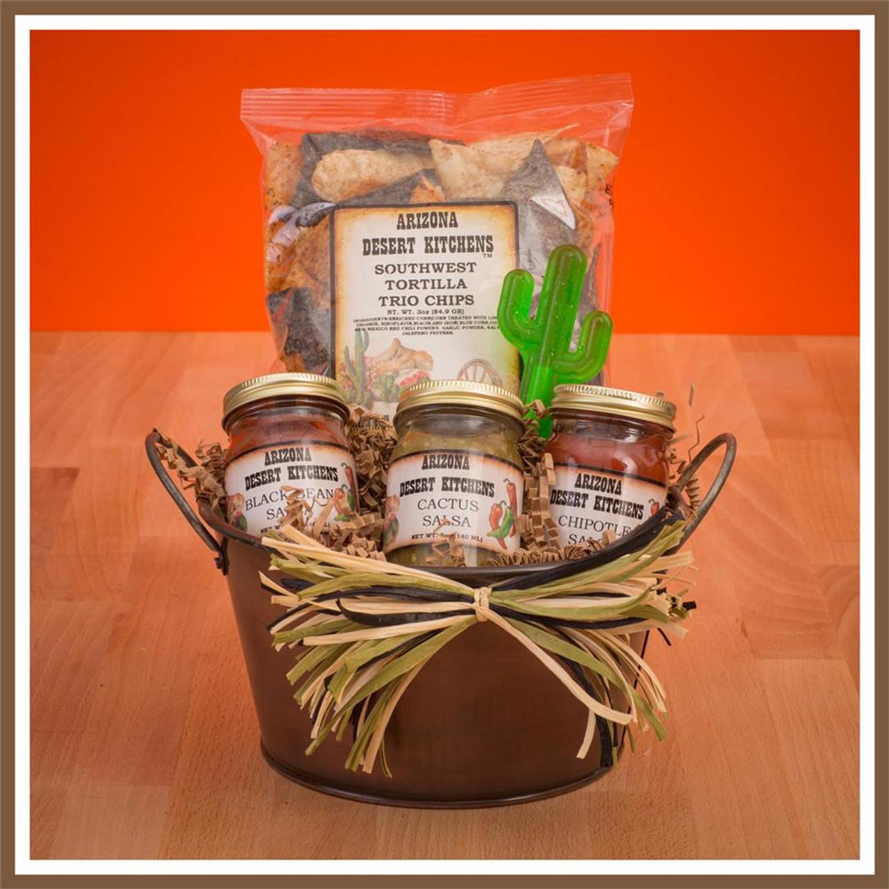 arizona chips and salsa gift basket