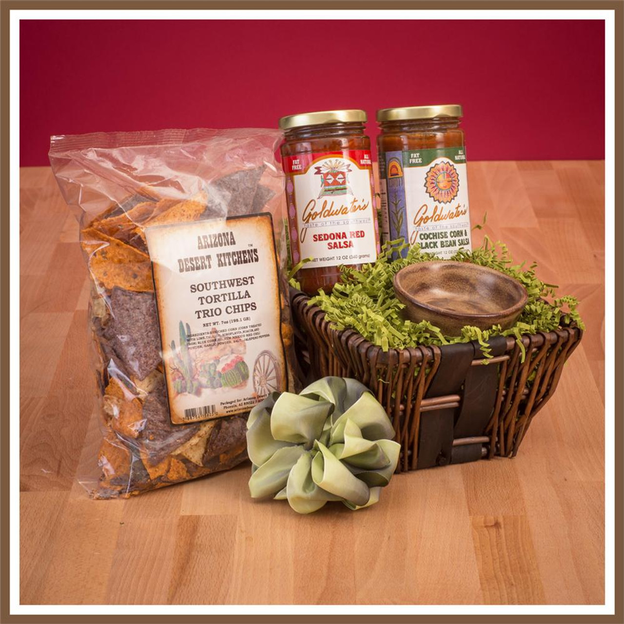 goldwaters chips and salsa gift basket