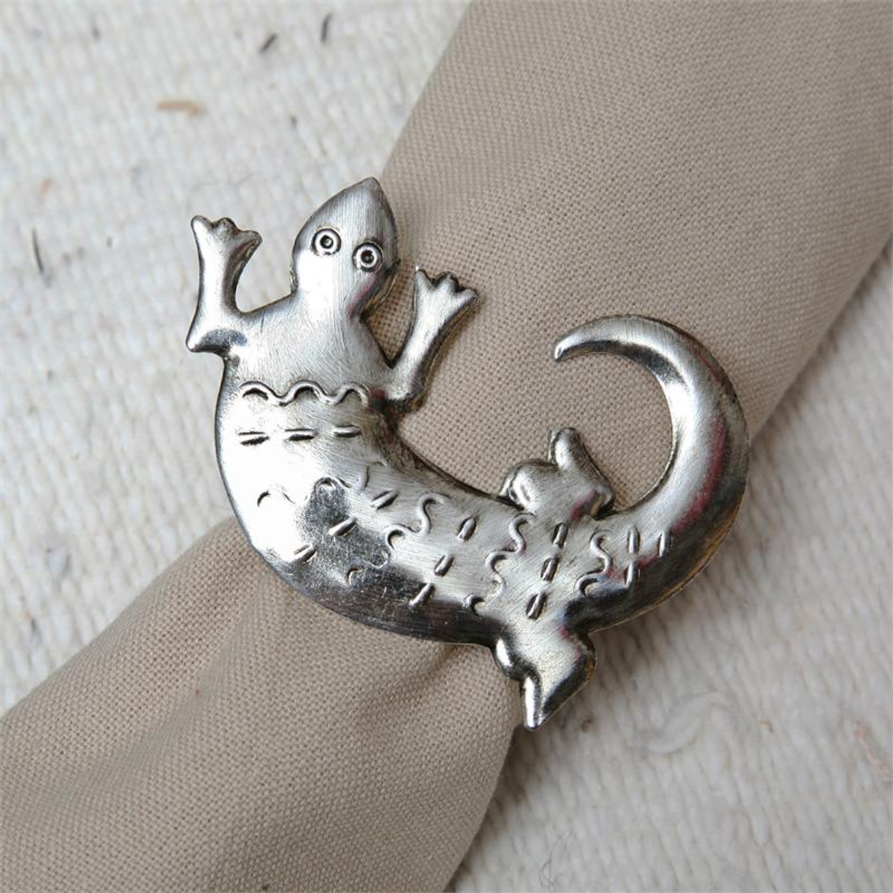 Antique Lizard Napkin Ring