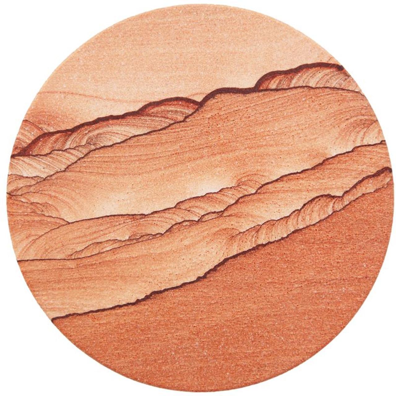 Natural Sandstone Coaster - Round