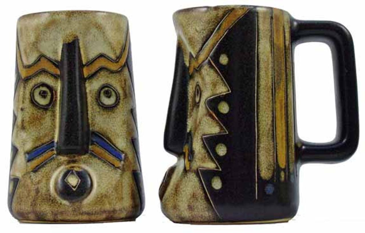 Mara Sculpted Stein 15oz - Earthtones Mask