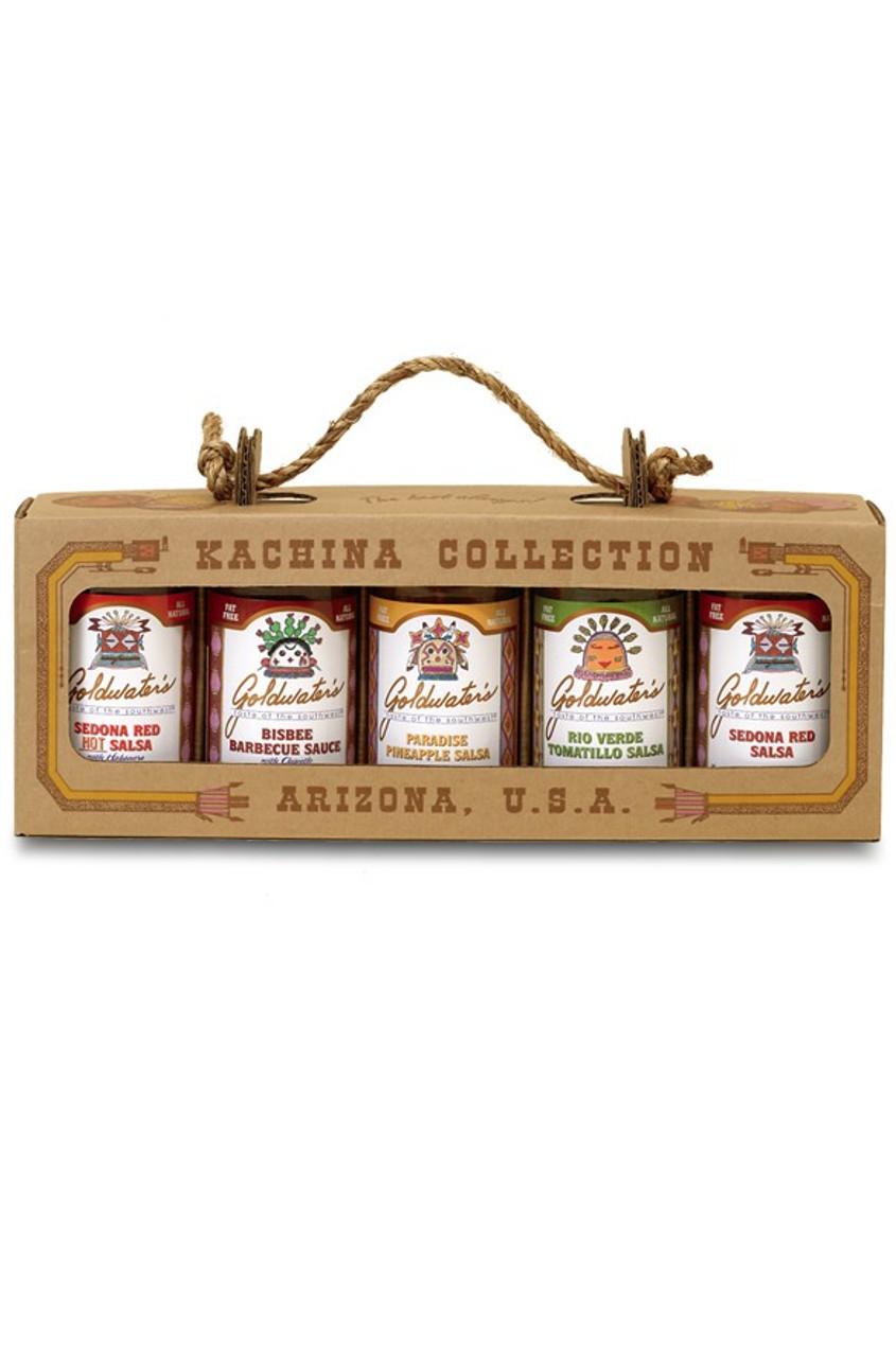goldwaters kachina collection gourmet salsa set
