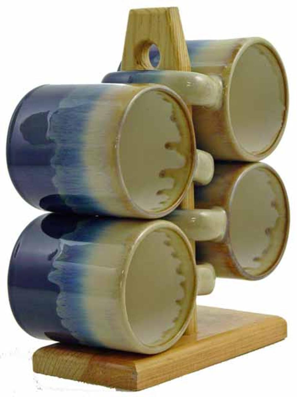 Padilla Soup Rack,  4ea - 16oz Mugs