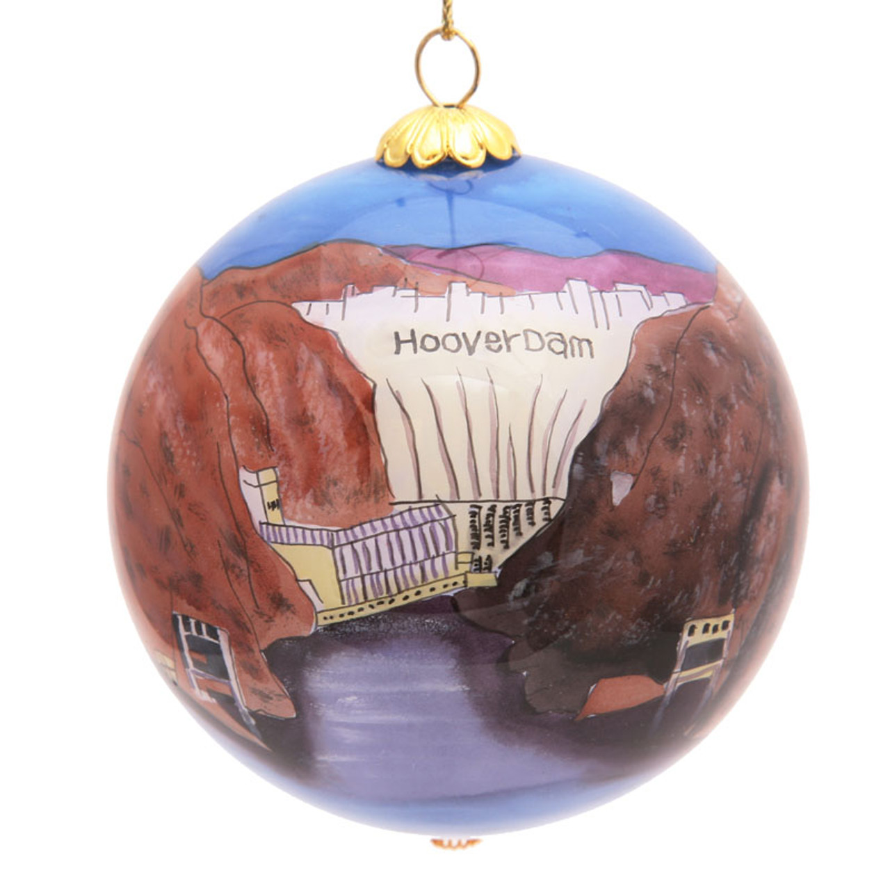 "Hoover Dam - 3"" Ornament Set of 2"