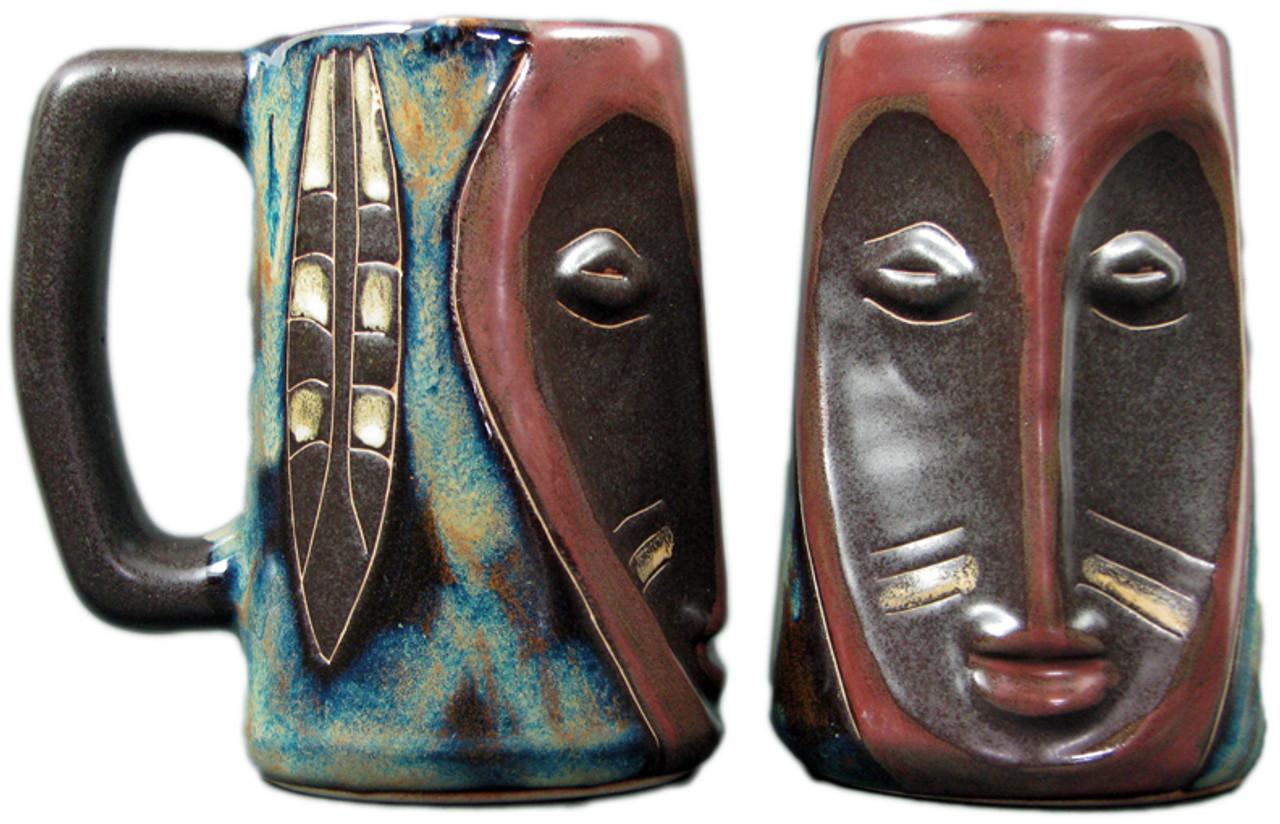 Mara Sculpted Stein 15oz - Face Feather