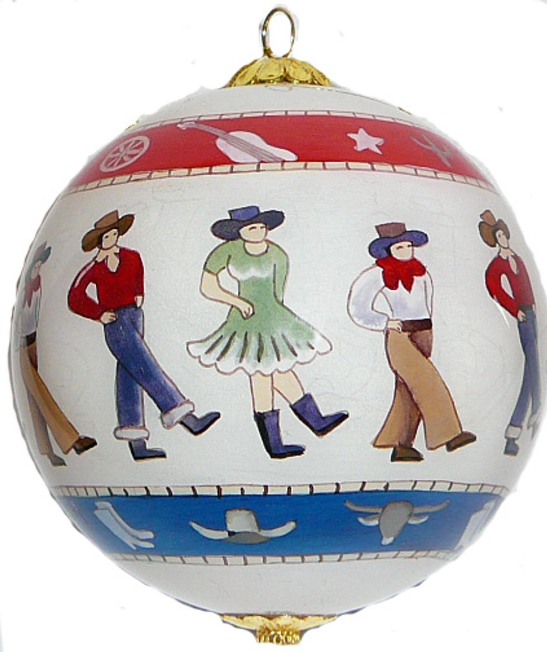 "Line dancers - 3"" Ornament Set of 2"