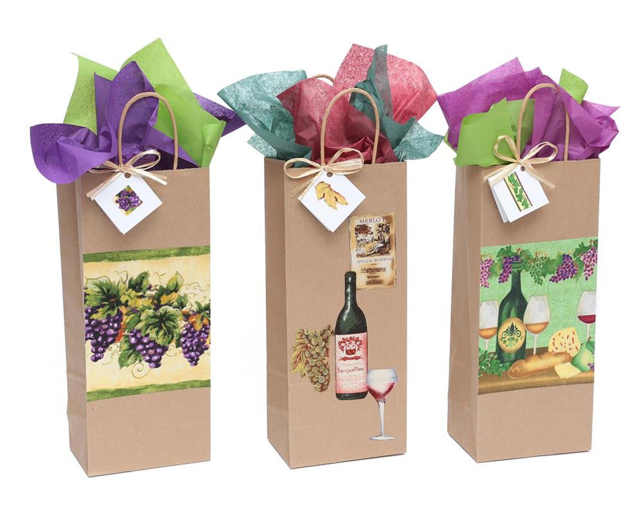 Old World Grapes Wine Gift Bag