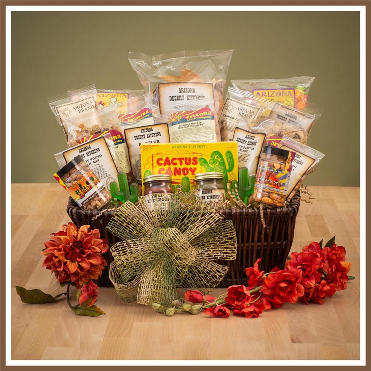 arizona southwest snacks gift basket, trail mix, nuts