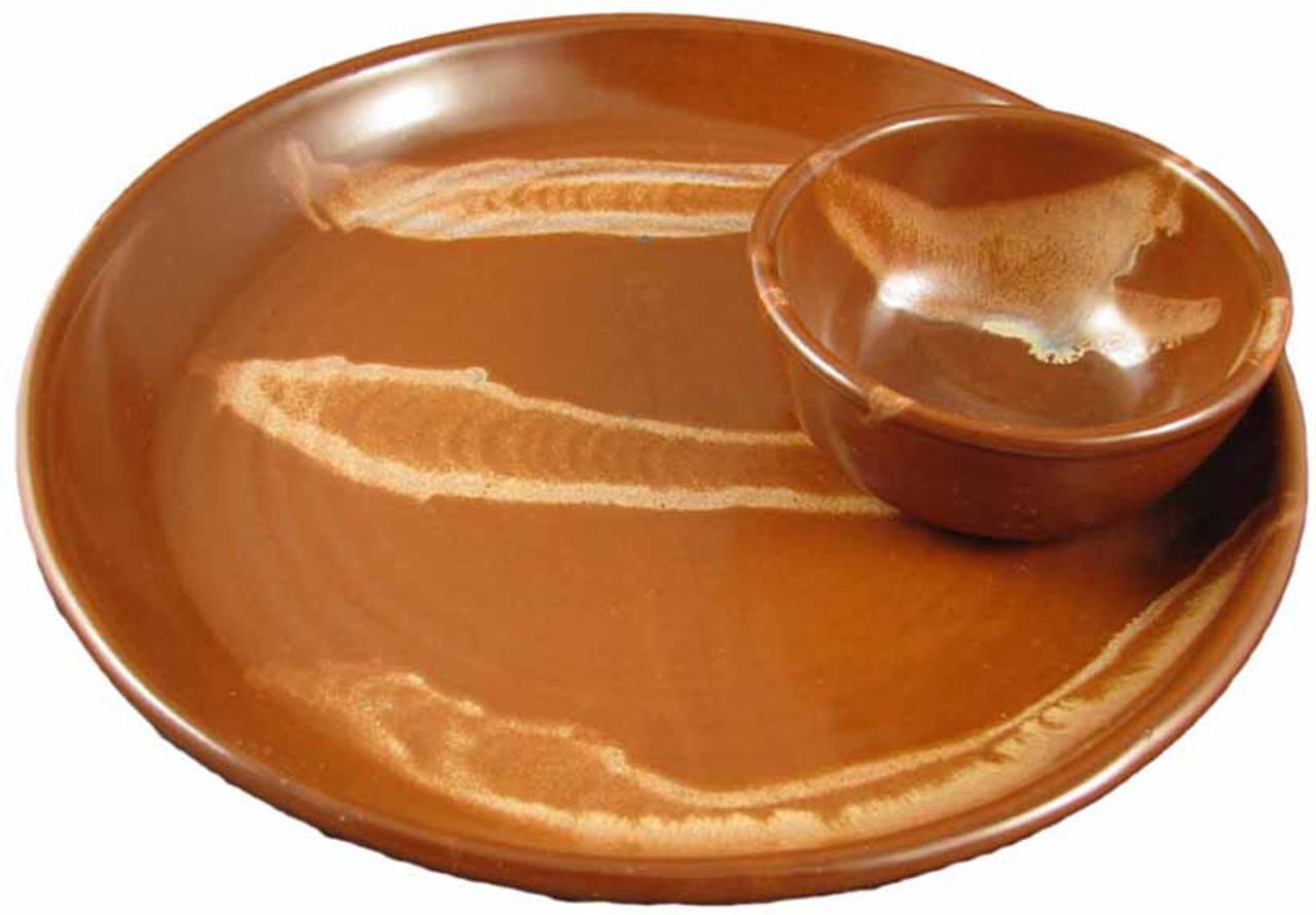 Stoneware Salsa and Nacho Tray
