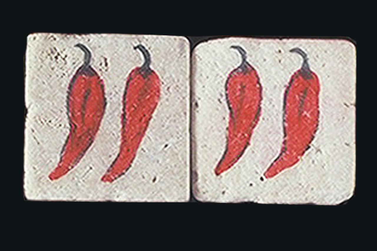 """Hot Chili 2""""x2"""" Border Tile"""