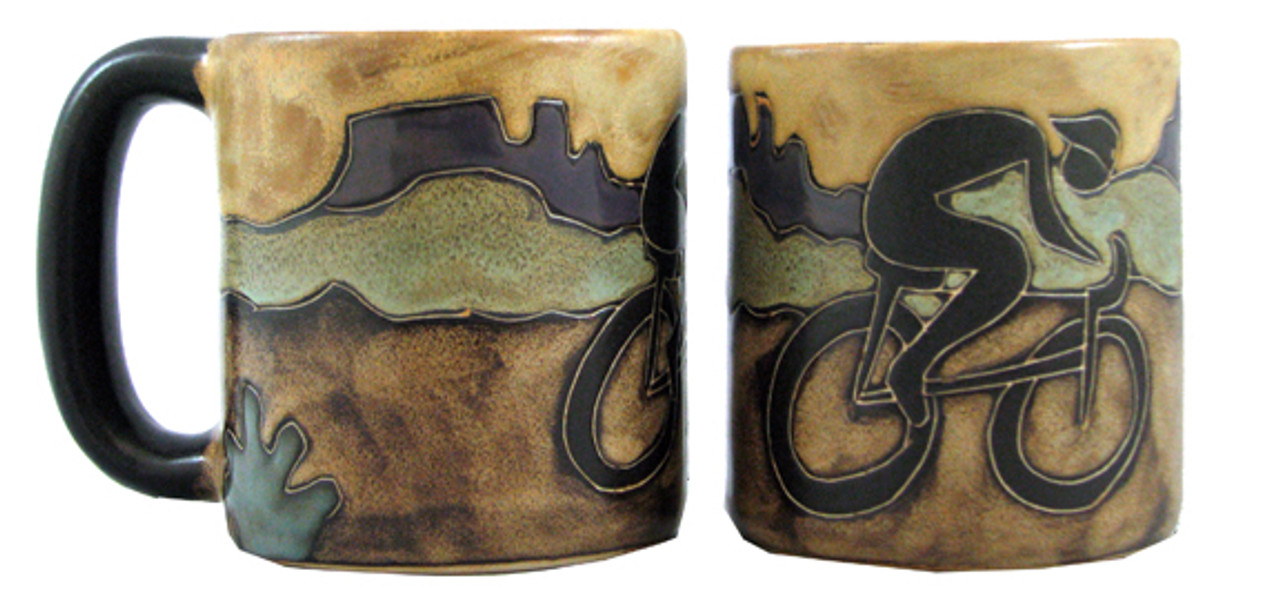 Mara Mug 16oz - Bicyclist