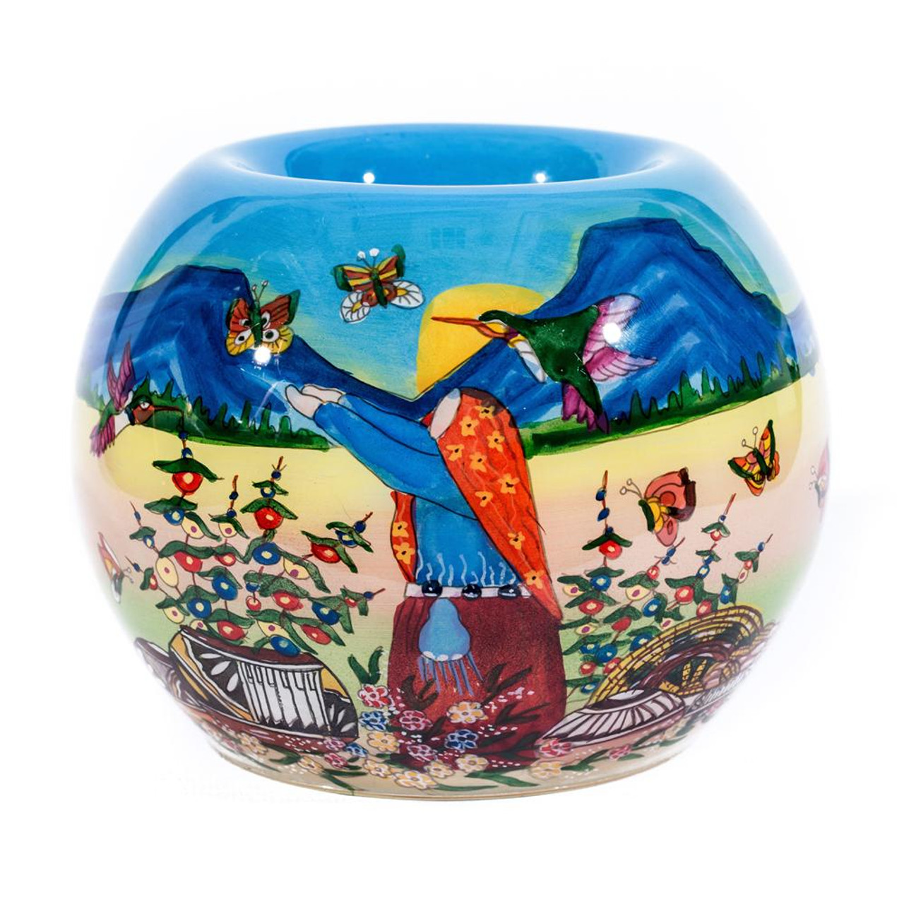 "Butterfly Storyteller - 4"" Votive Set of 2"