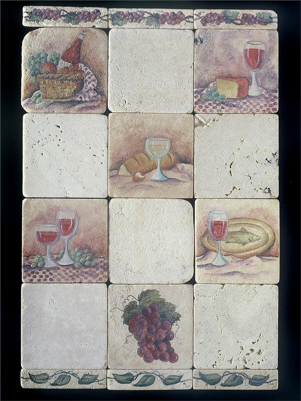 "Grape Liner 1""x4"" Tile"