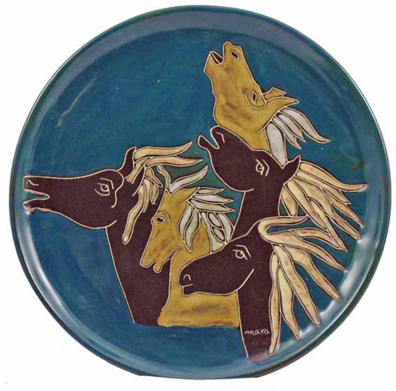 """Mara Platter 12"""" - Horses"""