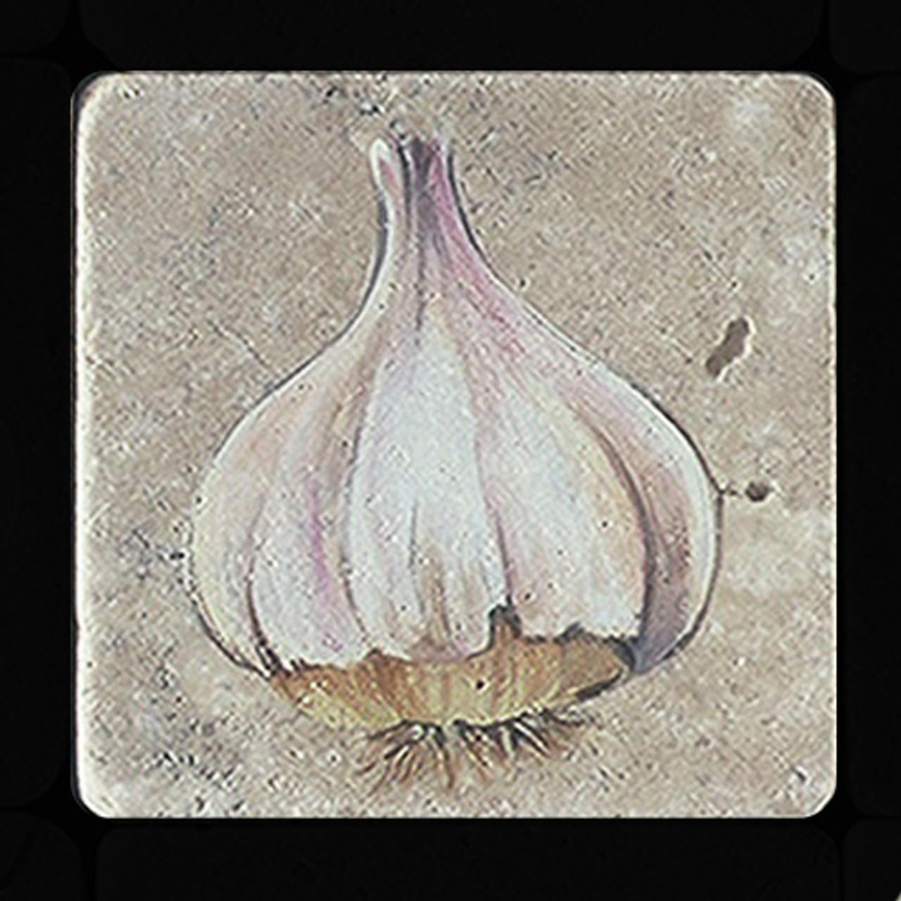 "Garlic 4""x4"" Deco Tile"