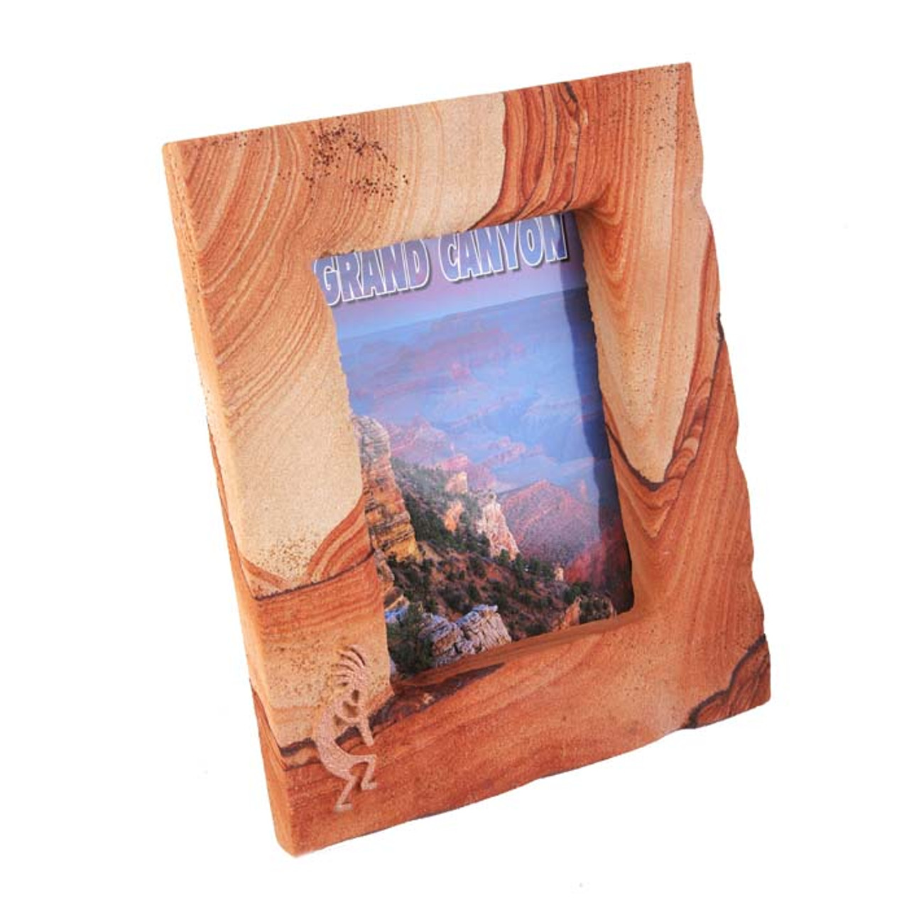 Sandstone Picture Frame w/Copper Kokopelli - Portrait