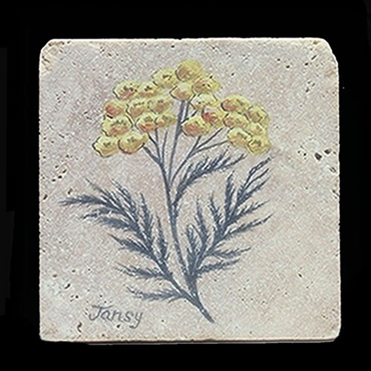 """Tansy Herb 4""""x4"""" Deco Tile"""