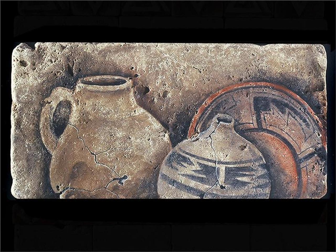 """Three Ancient Pots 6""""x12"""" Deco Tile"""