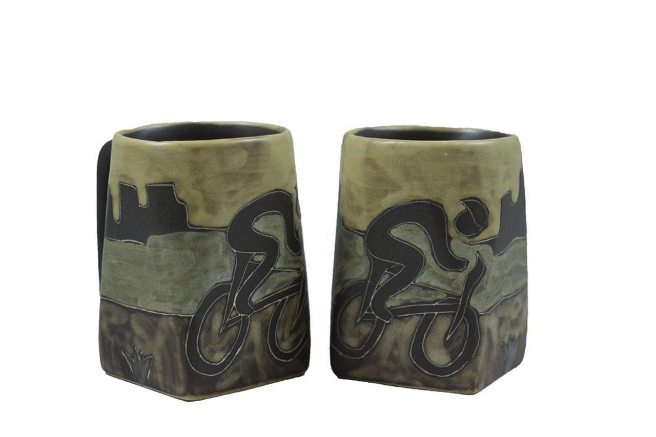 Mara Square Mug 12oz - Bicyclist