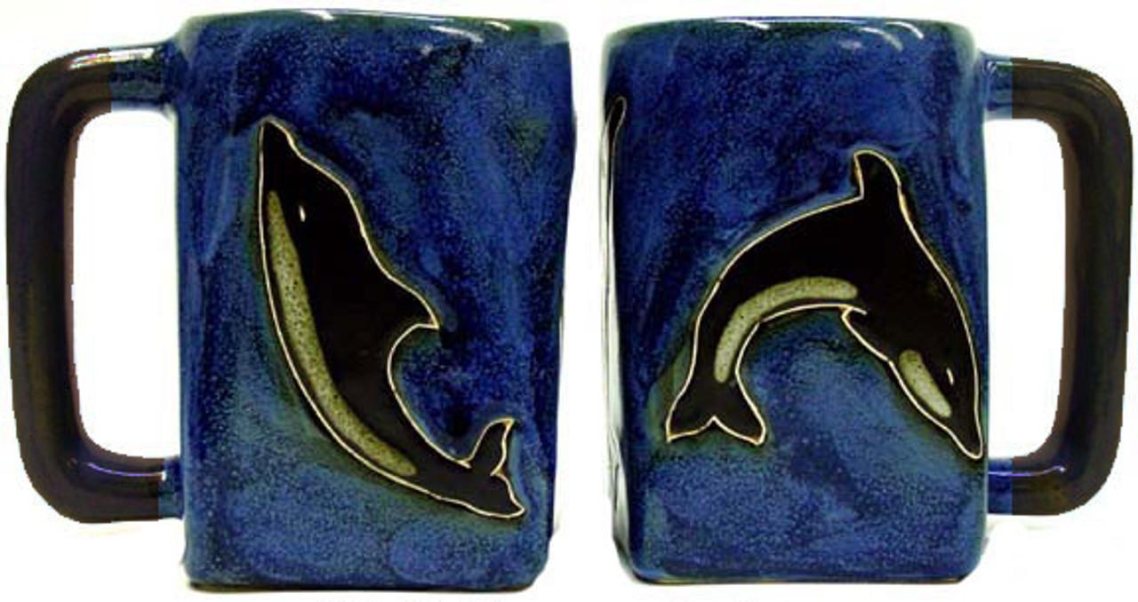 Mara Square Mug 12oz - Dolphins