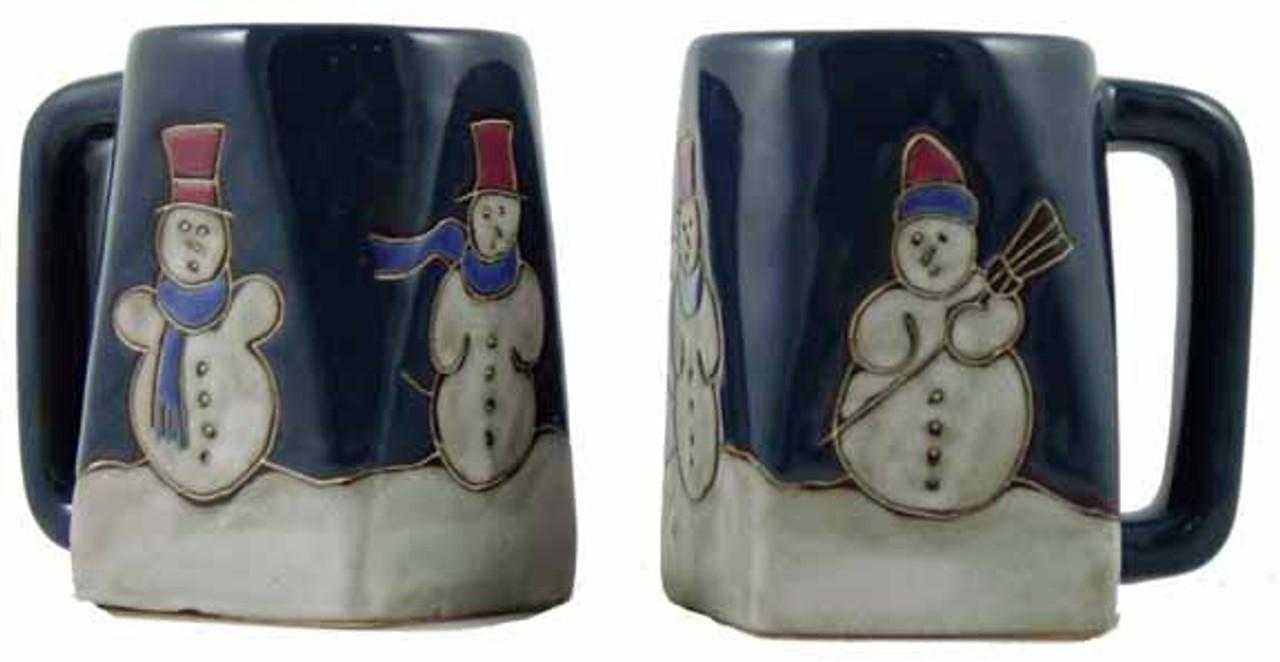 Mara Square Mug 12oz - Snowman