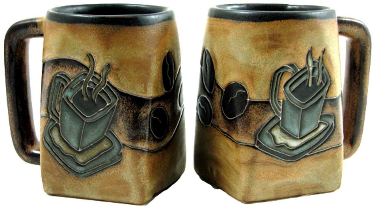 Mara Square Mug 12oz - Coffee Beans & Mug