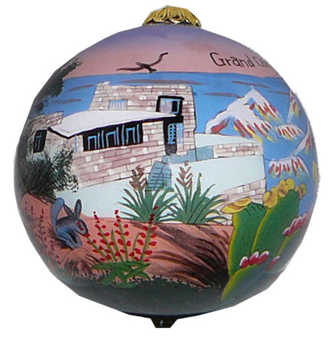 "Grand Canyon view - 3"" Ornaments Set of 2"
