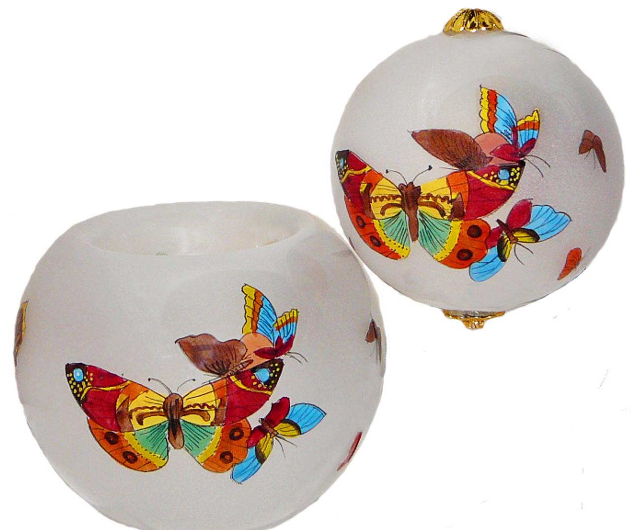 """Butterflies Votive - 3"""" Votive Set of 2"""