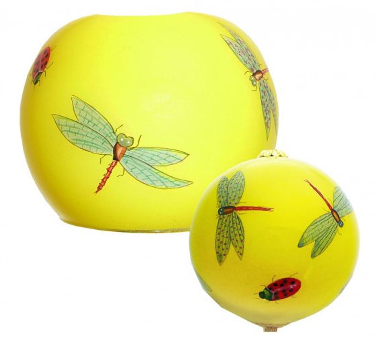 "Dragonfly & Ladybug -  3"" Votive - Set of 2"